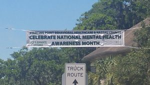photo of Mental Health Month banner