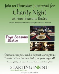 image of Charity Night flyer