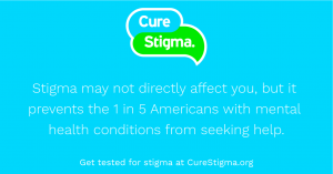 image of cure stigma quote