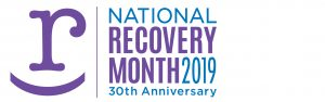 logo for National Recovery Month 2019 30th anniversary