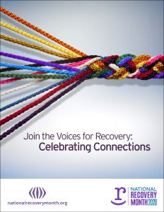 recovery month graphic of braided yarn