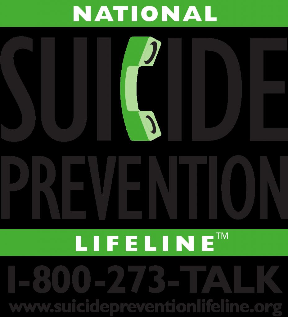 suicide prevention lifeline is 1-800-273-TALK