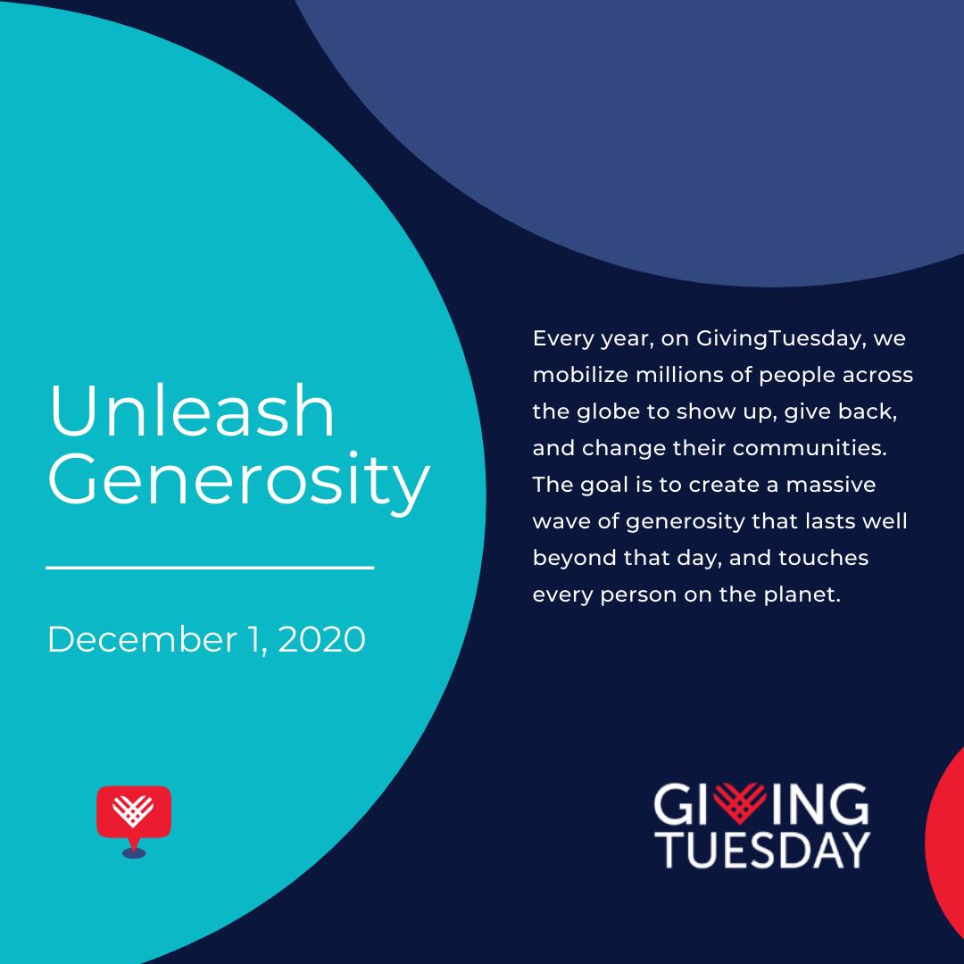 unleash generosity giving tuesday logo graphic